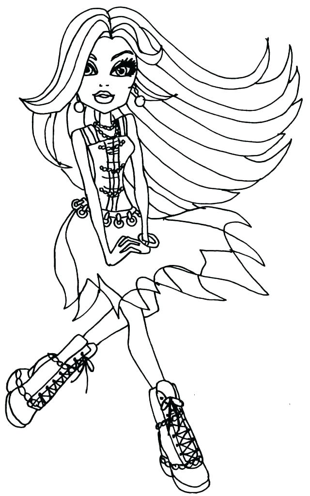 640x1024 Monster High Halloween Coloring Pages Free Monster High Coloring