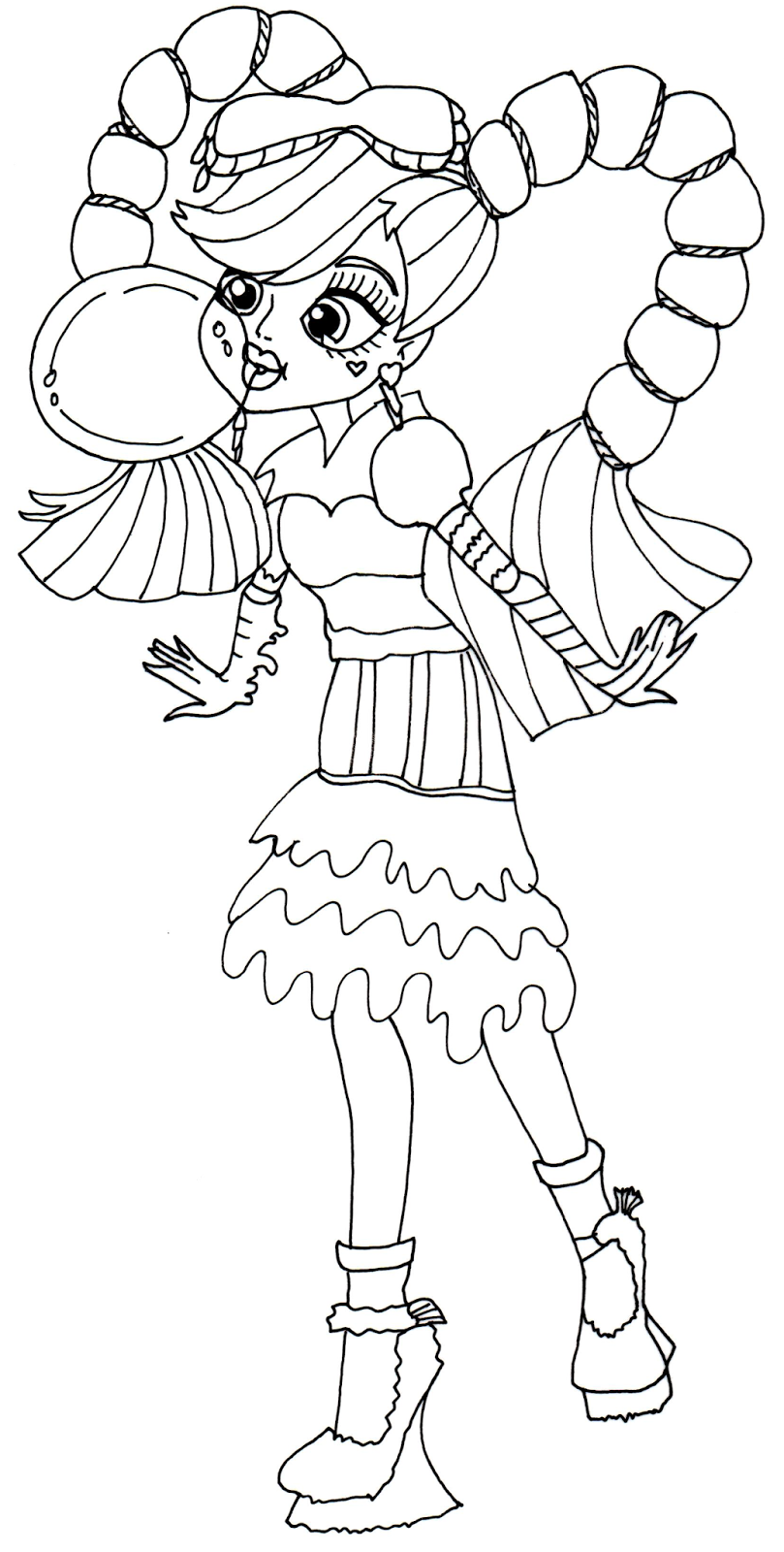 809x1600 Monster High Rochelle Coloring Pages