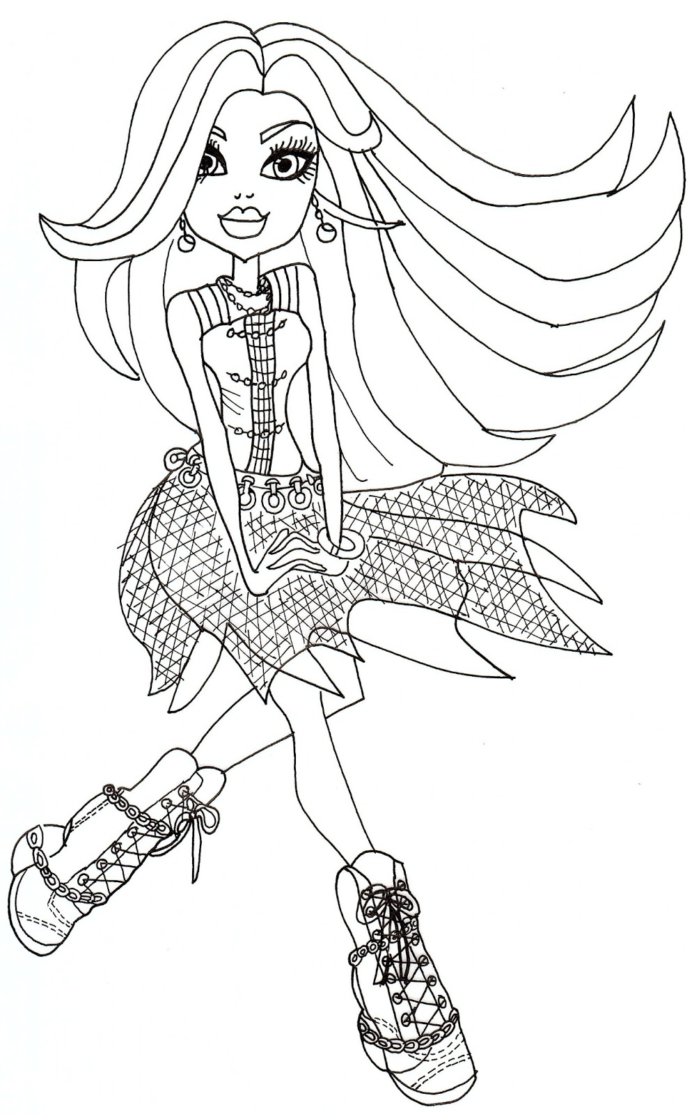 994x1600 Monster High Spectra Coloring Pages