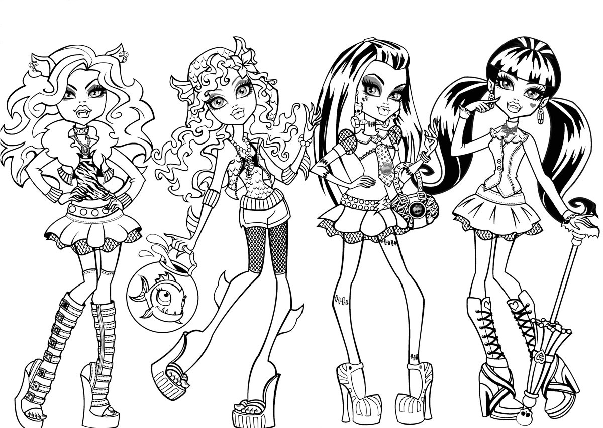 1200x853 Exclusive Coloring Pages Of Monster High Chara