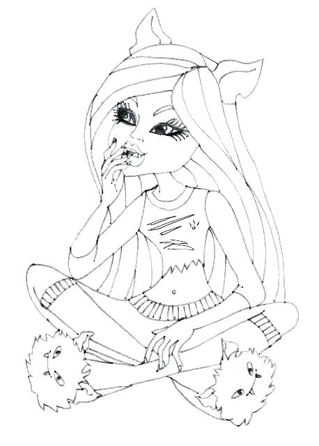 458x640 Monster High Clawdeen Coloring Pages Coloring Pages Wolf Coloring