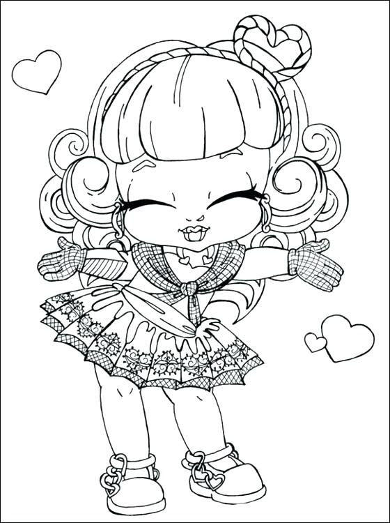 560x750 Monster High Pets Coloring Pages Baby Monster High Coloring Pages