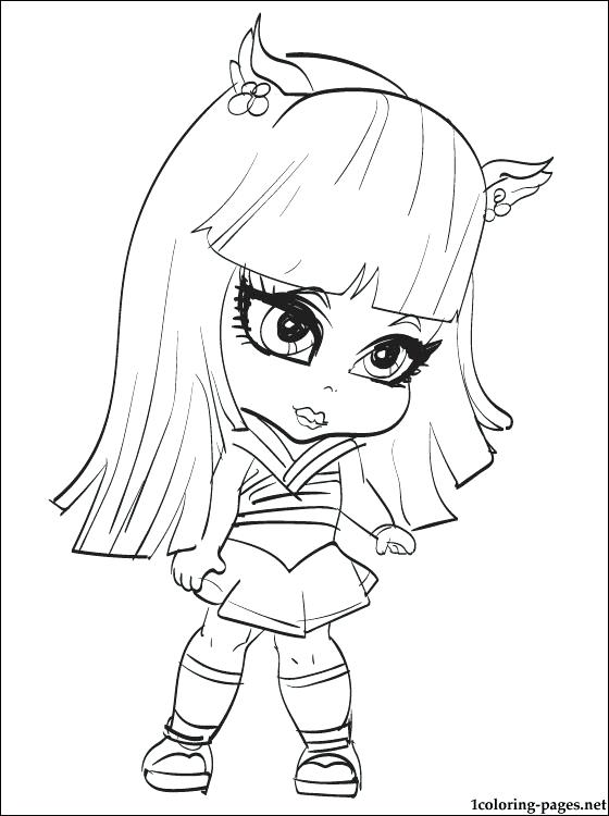 560x750 Monster High Pets Coloring Pages Monster High Doll This Coloring