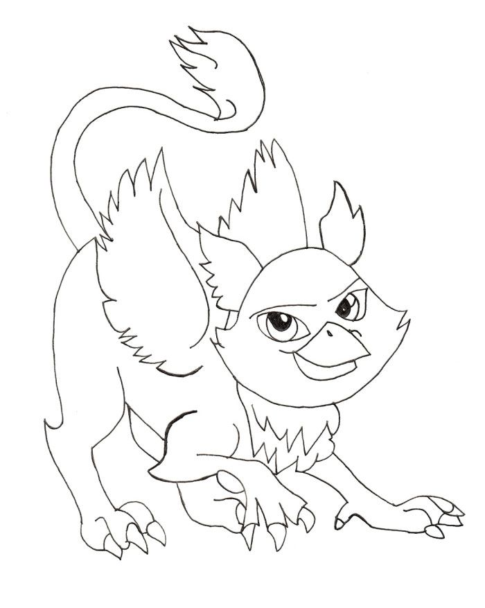 700x877 Monster Pet Rochelle Goyle Coloring Pages
