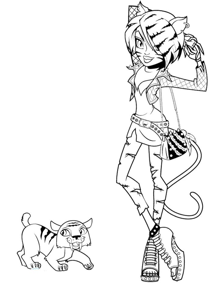 736x951 Toralei Monster High Pets Coloring Pages