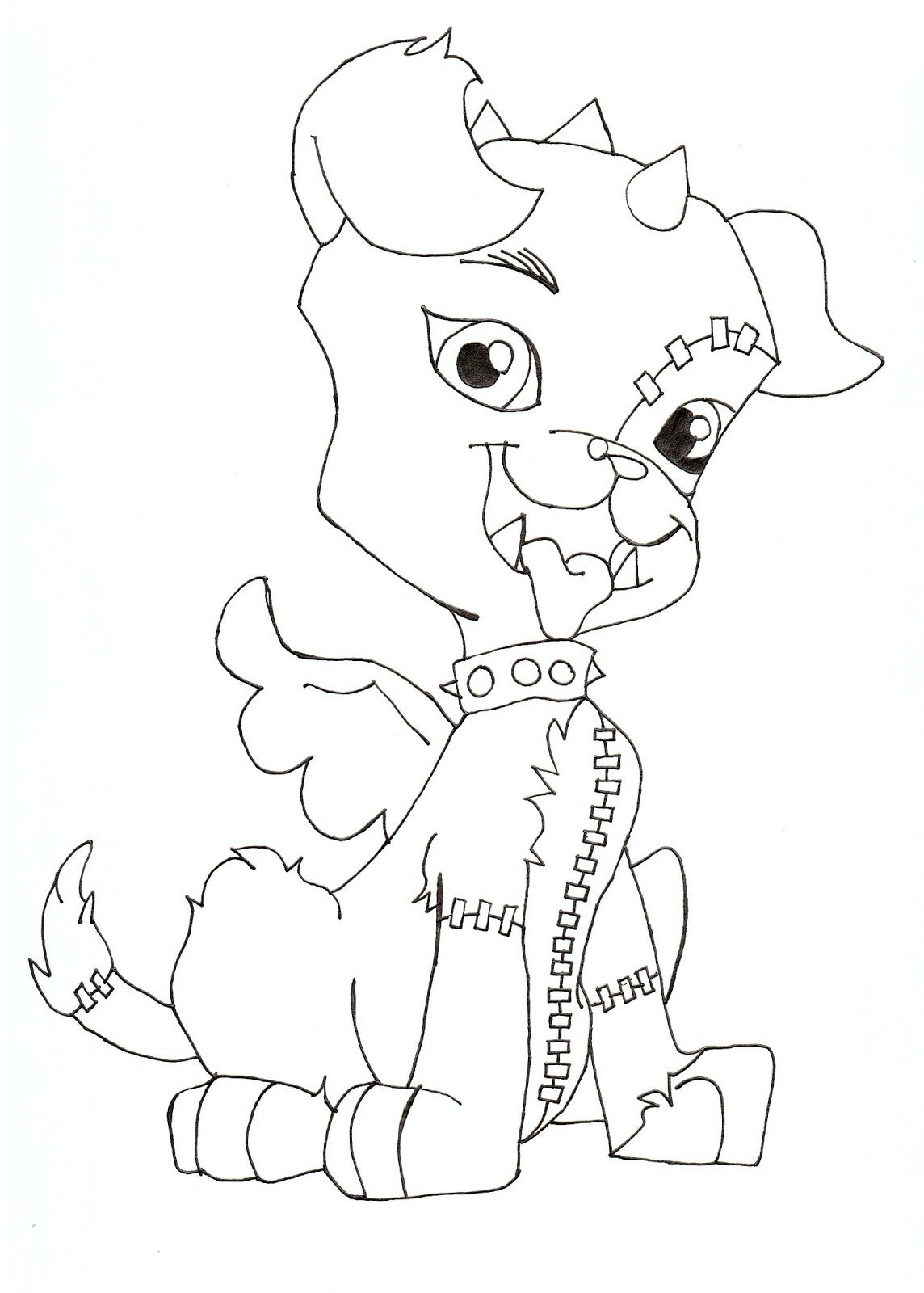 1144x1600 Monster High Coloring Pages About Monster High Dolls