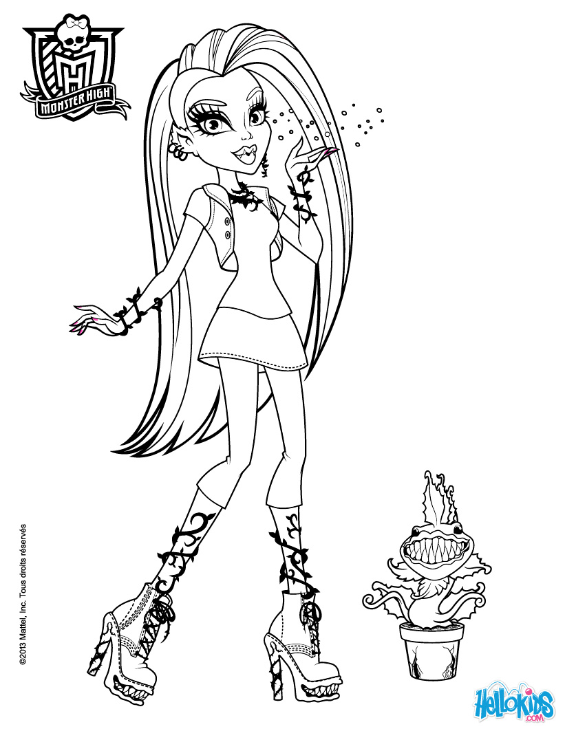 Monster High Venus Coloring Pages at GetDrawings.com | Free ...