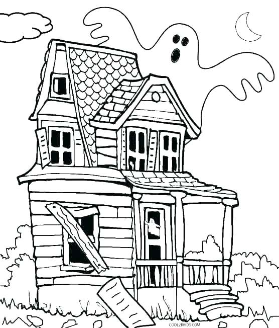 Monster House Coloring Page