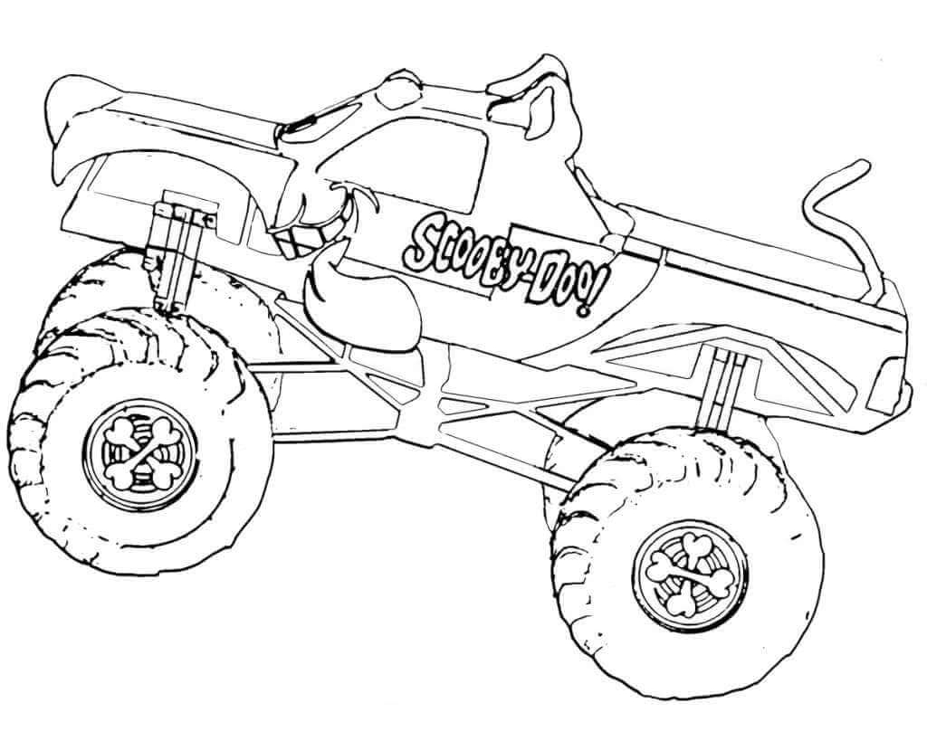 1024x819 Monster Jam Coloring Pages To Print
