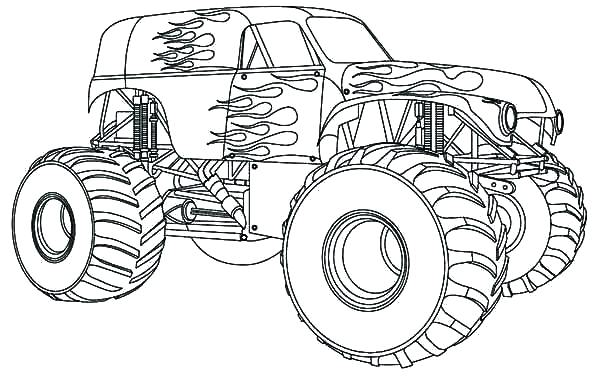 600x383 Free Printable Monster Truck Coloring Pages Coloring Pages