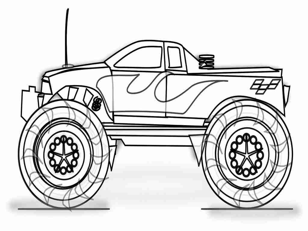 1024x768 Monster Jam Coloring Pages To Print Grave Digger Truck Womanmate