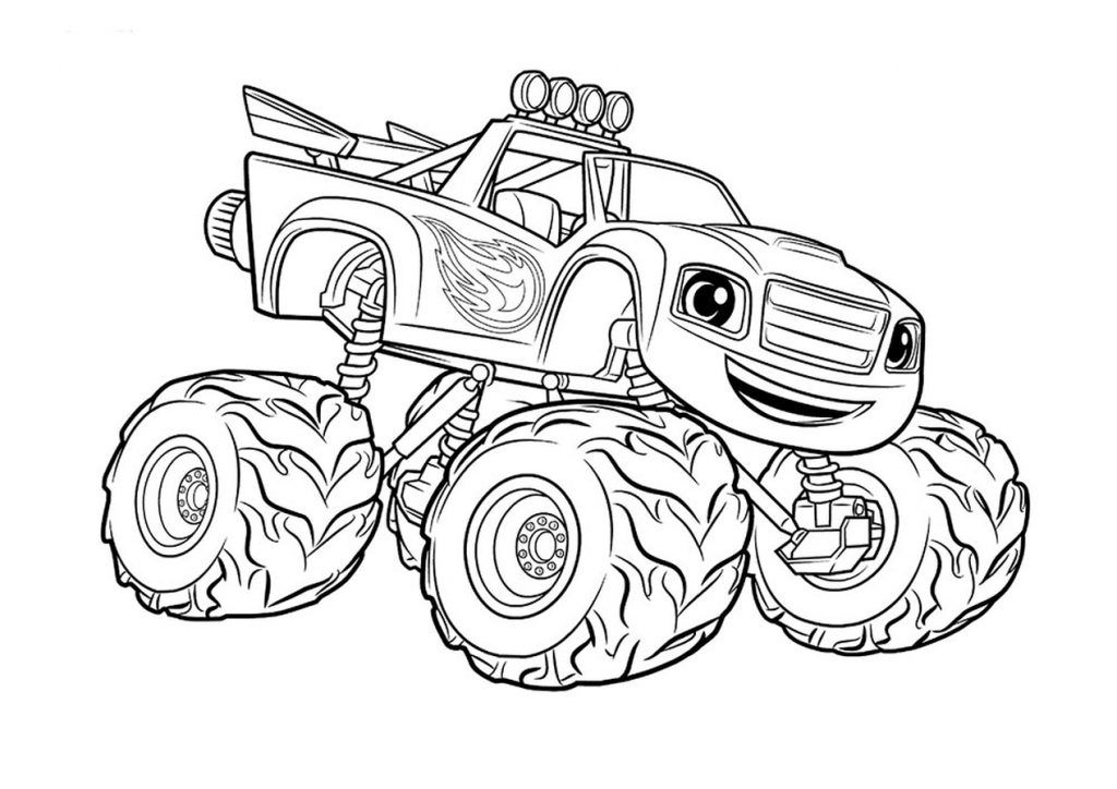 1024x724 Monster Truck Coloring Page