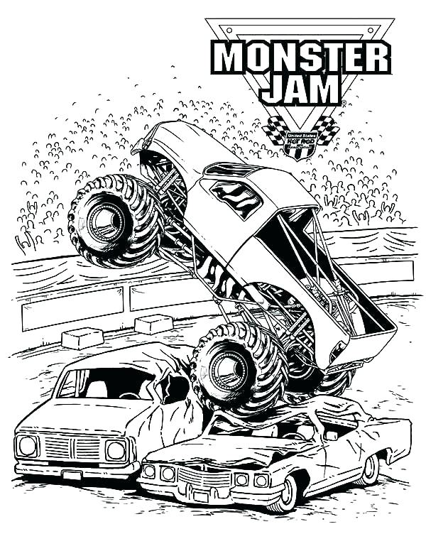 600x776 Monster Truck Free Coloring Pages Monster Truck Free Coloring