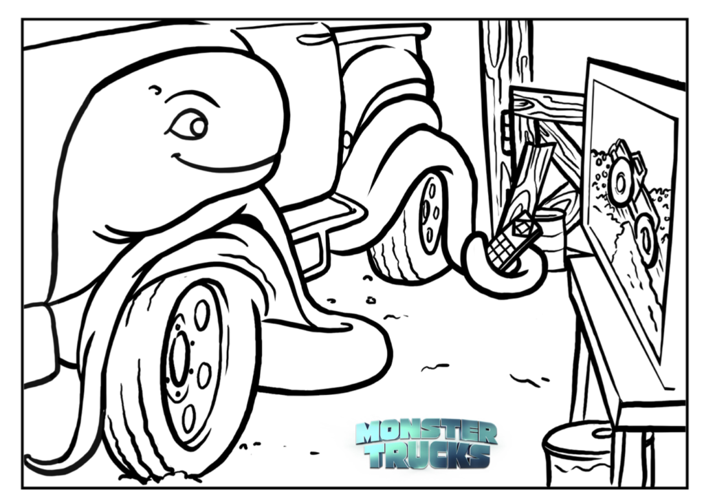 1024x731 Monster Trucks Coloring Pages