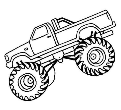 483x438 Monster Trucks Coloring Pages Monster Truck Coloring Pages Cartoon