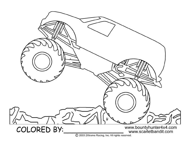 792x612 Monster Truck Coloring Pages