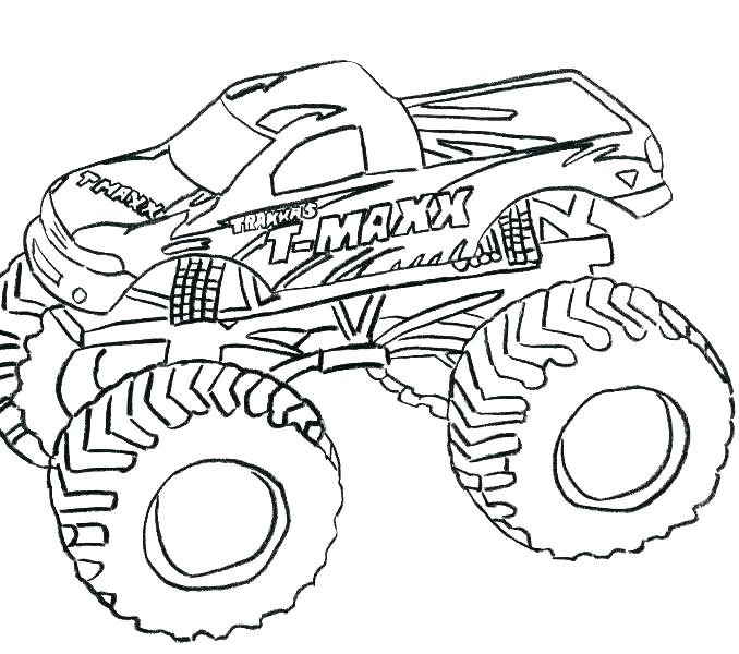 678x600 Monster Truck Coloring Page