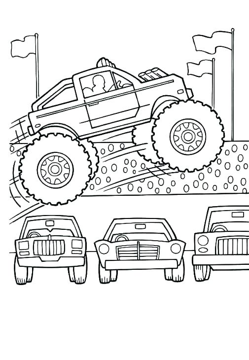 505x730 Free Monster Truck Coloring Pages Third Birthday Monster Trucks