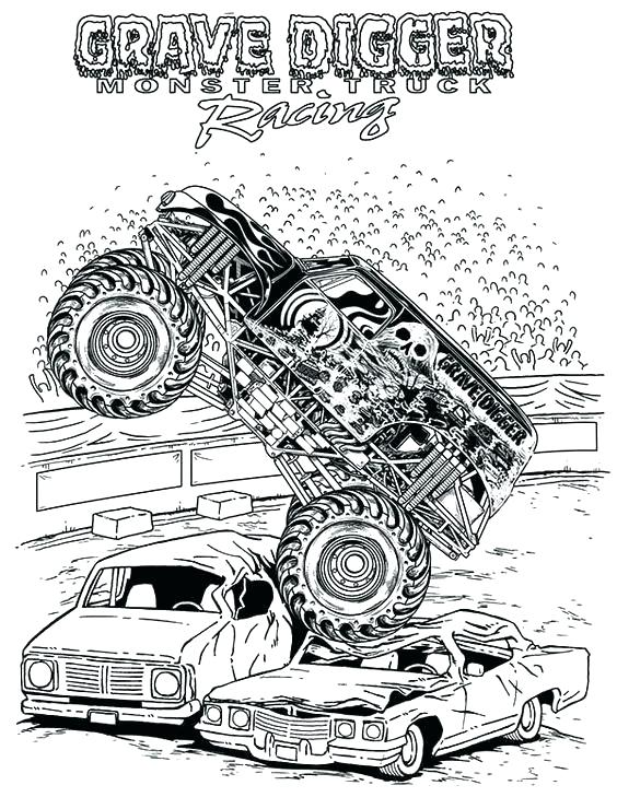564x729 Free Printable Monster Truck Coloring Pages For Kids Coloring
