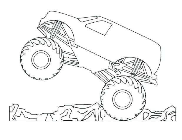 618x477 Grave Digger Coloring Pages Free Printable Monster Truck Coloring