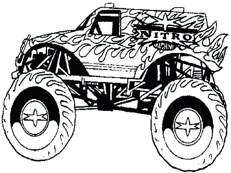 736x552 Grave Digger Coloring Pages Plus Monster Jam Coloring Pages Grave