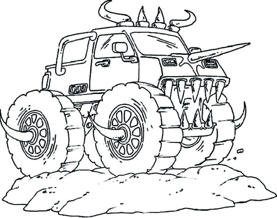 960x756 Grave Digger Coloring Pages Printable Monster Truck Coloring Pages