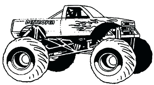600x332 Grave Digger Monster Truck Coloring Pages Monster Truck Coloring