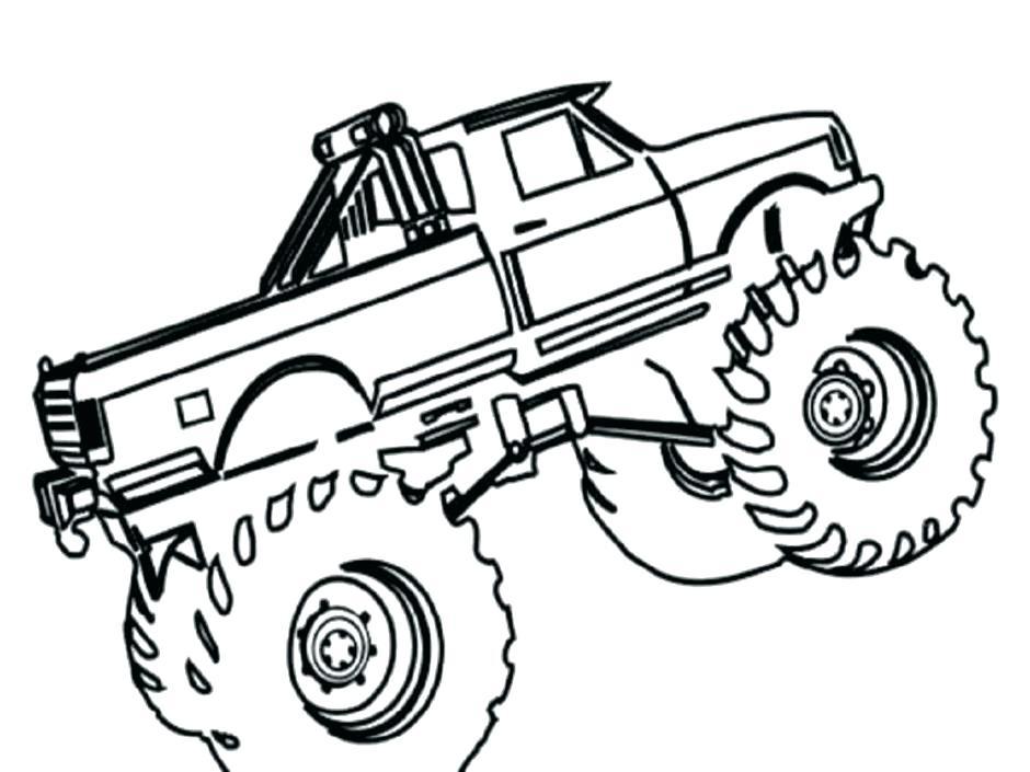 Monster Truck A Colorier - Dessin et Coloriage