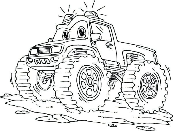 600x455 Monster Truck Color Page Monster Truck With Coloring Page Grave