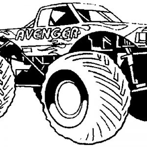 300x300 Coloring Pages Monster Trucks Grave Digger New Coloring Pages