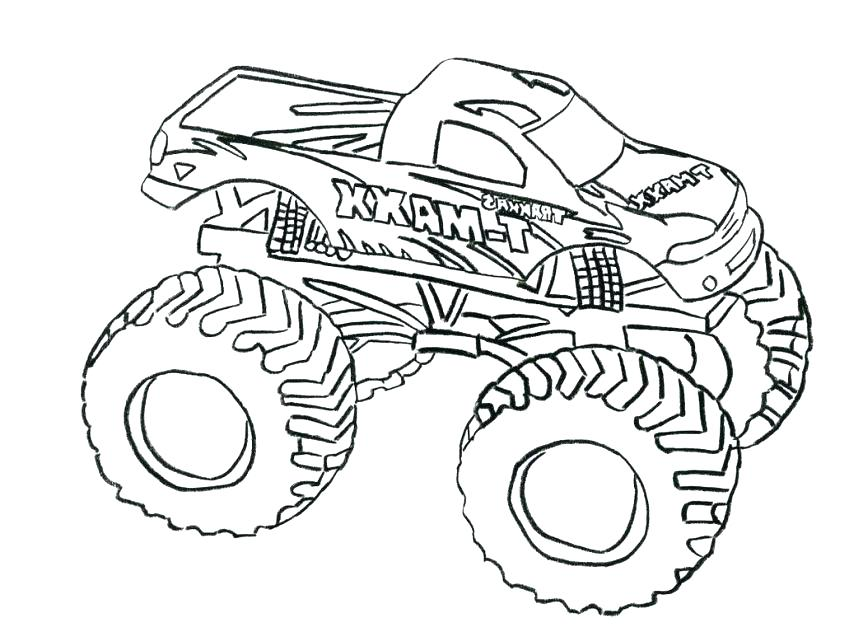 863x627 Monster Truck Coloring Pages Plus Easy Monster Truck Coloring