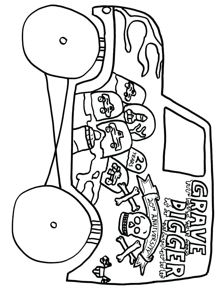 744x1024 Monster Truck Grave Digger Coloring Plus Coloring Pages Coloring