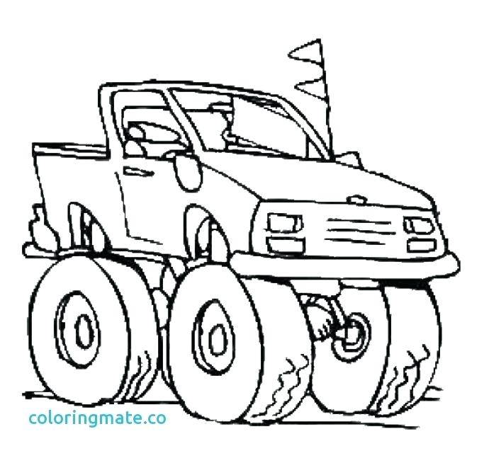 690x647 Pages A Colorier Digger Monster Truck Coloring Page Elegant Free