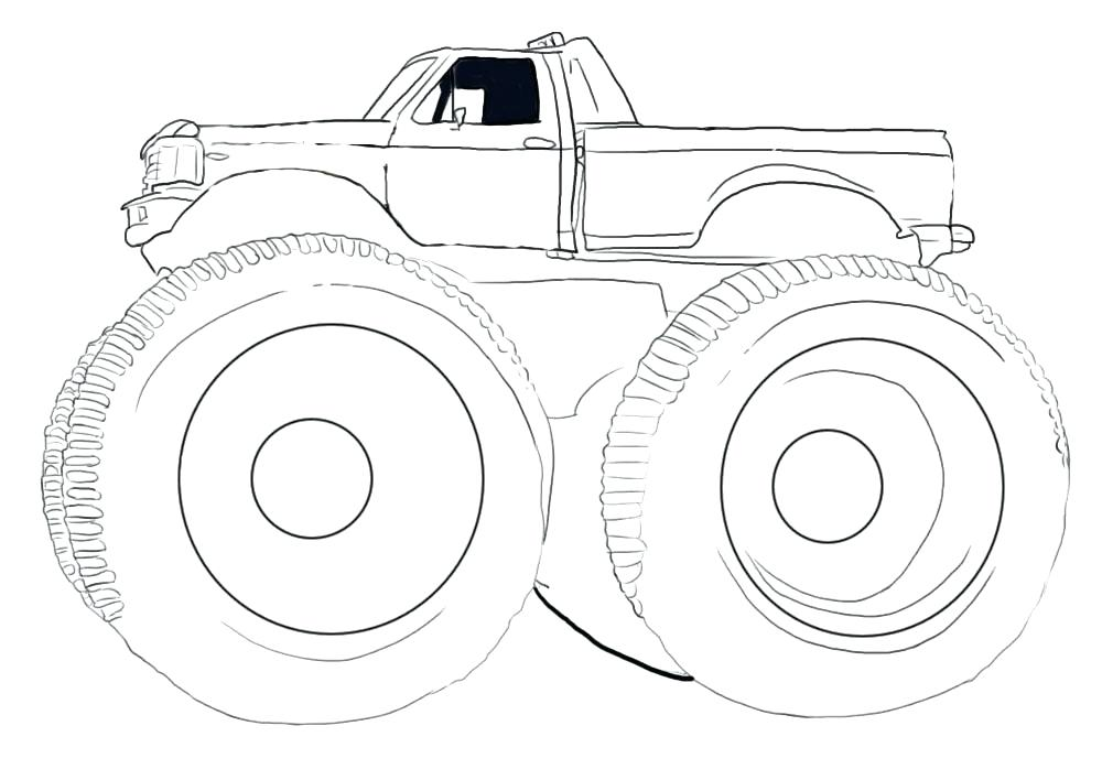 1000x708 Ideal Monster Truck Coloring Page Image Coloring Pages Of Huge