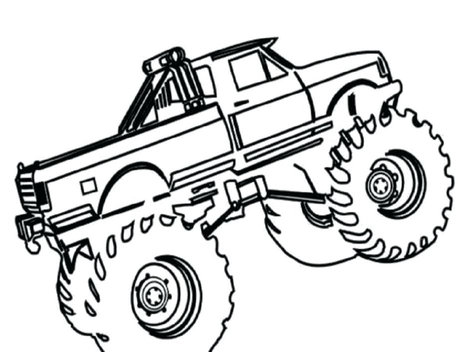 940x705 Monster Jam Coloring Pages To Print Trucks Truck Grave Digger