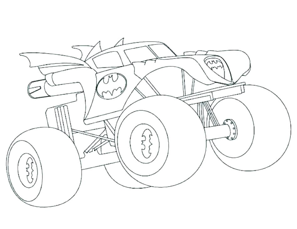 948x731 Monster Truck Coloring Page Monster Truck Pictures To Color