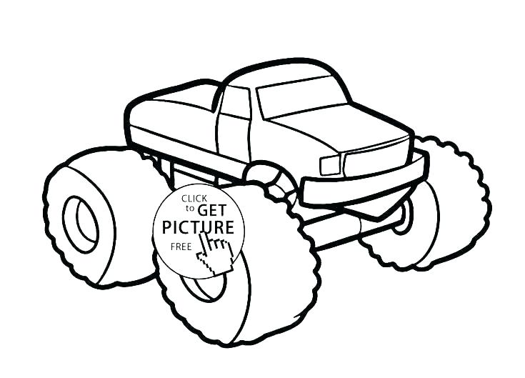 735x529 Free Monster Truck Coloring Pages