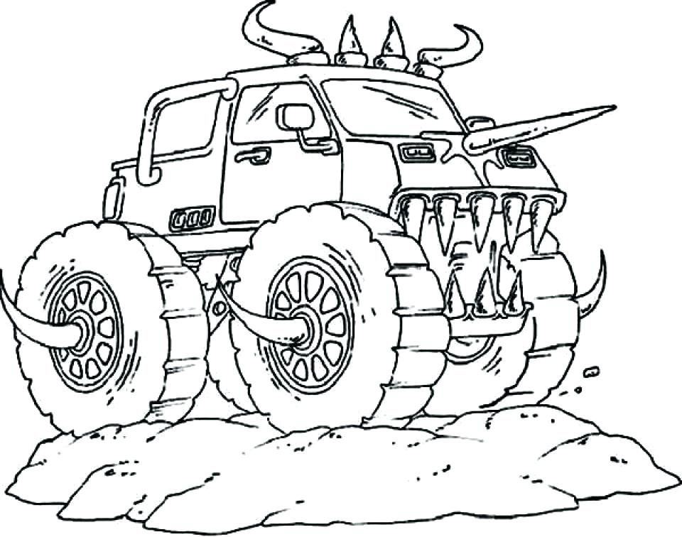 960x756 Monster Truck Free Coloring Pages