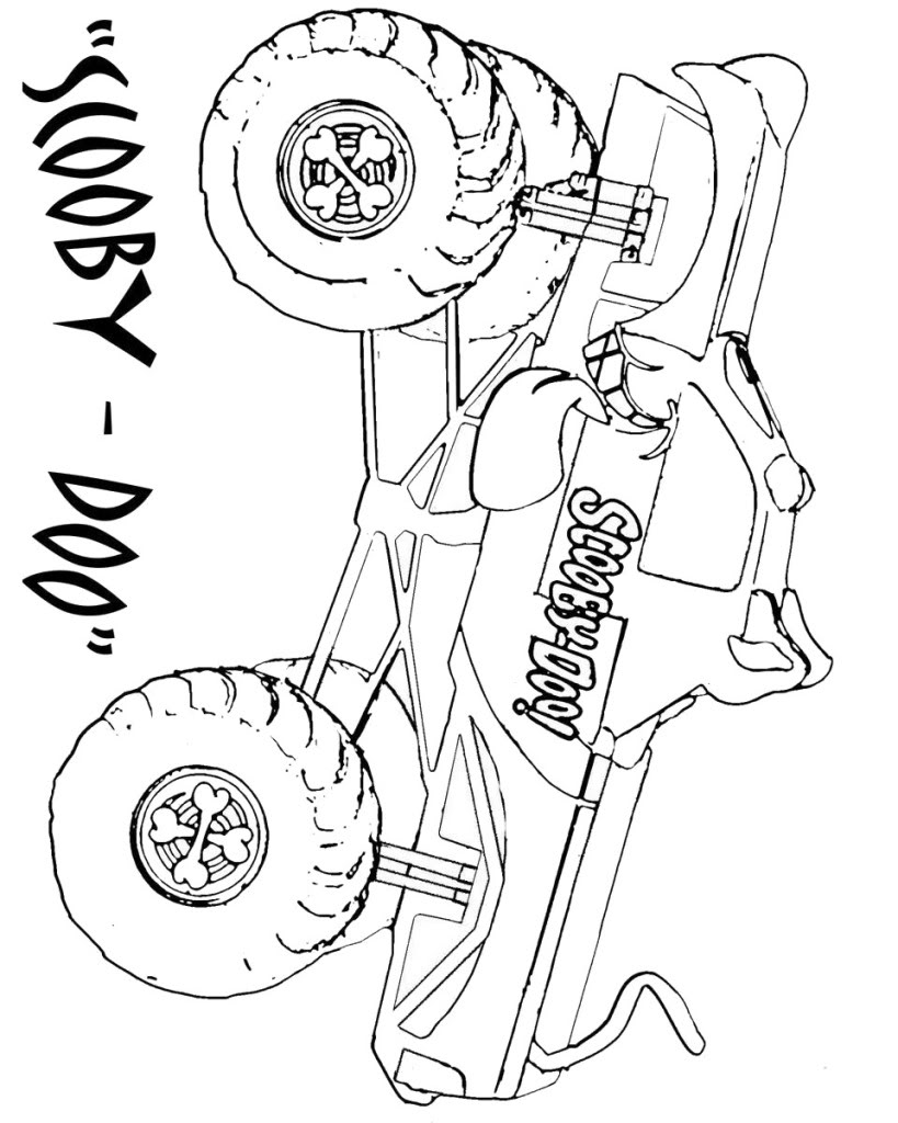 819x1024 Bucket Truck Coloring Pages On How To Draw Montstertrucks Coloring