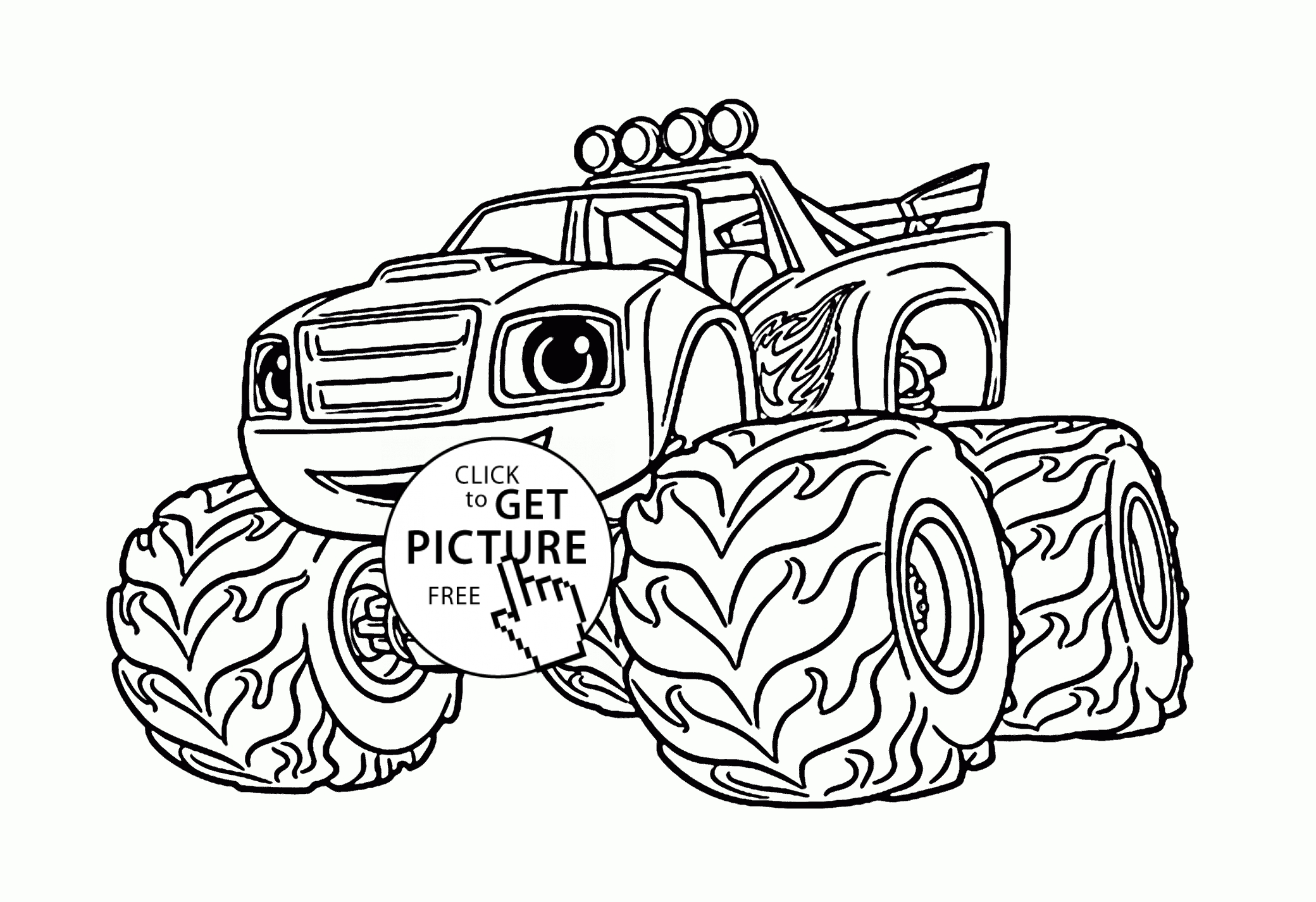 Monster Machine Coloring Pages