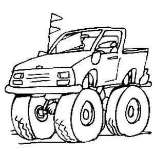 300x300 Monster Mutt Rottweiler Monster Truck Coloring Page Monster Mutt