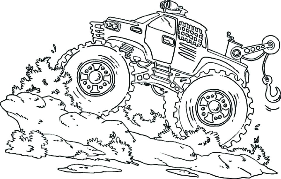 960x611 Monster Truck Coloring Pages Monster Truck Coloring Page Monster