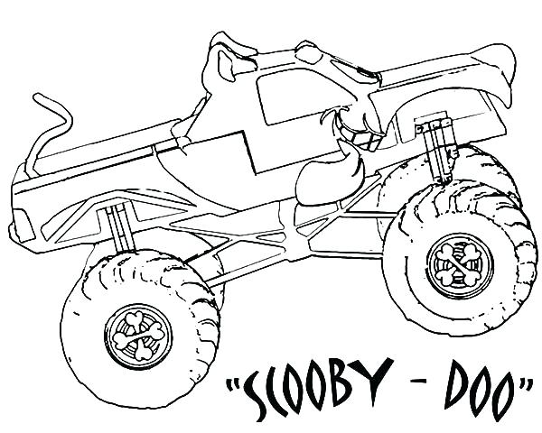600x480 Monster Jam Coloring Pages Max D Monster Truck Coloring Page