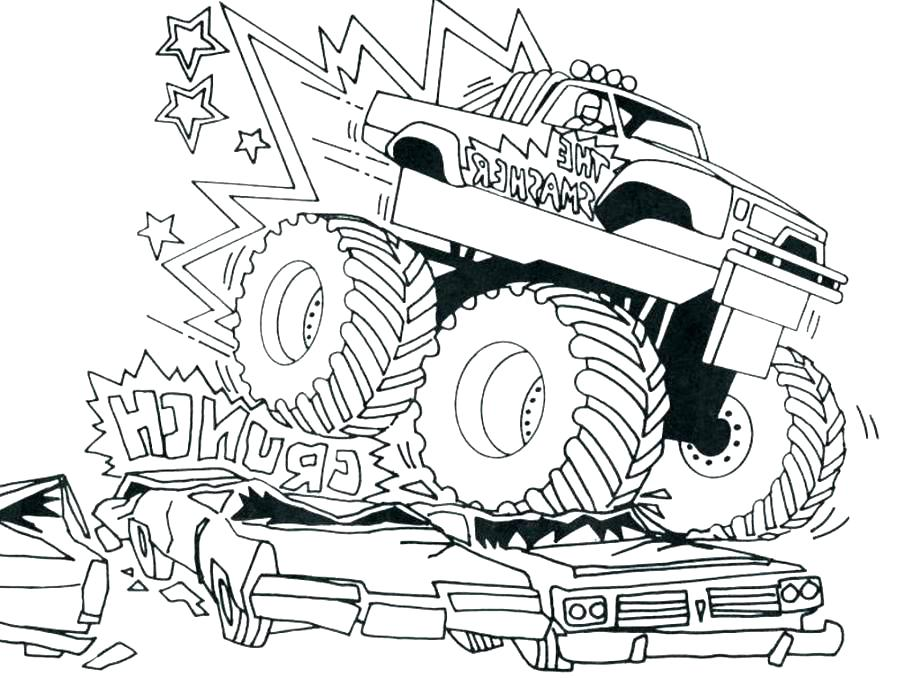 921x678 Monster Truck Coloring Page Coloring Truck Coloring Pages