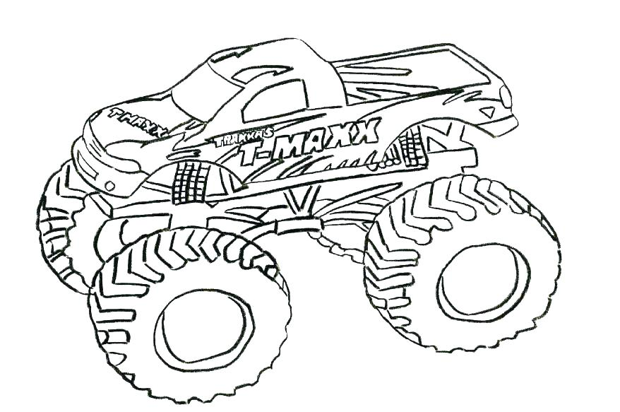 878x583 Monster Truck Coloring Pages Monster Truck Sting Monster Jam