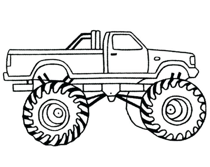 728x582 Monster Truck Transportation Printable Coloring Pages Blaze