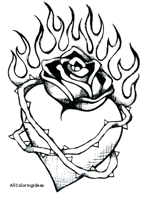 600x797 Wings Of Fire Coloring Pages Heart With Flames Coloring Pages Free