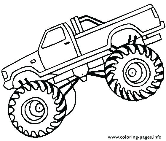 560x475 Coloring Page Truck