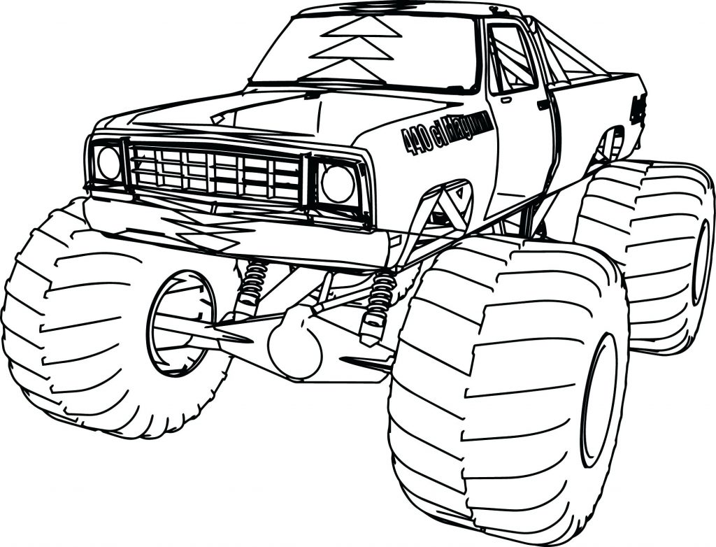 1024x782 Coloring Pages Monster Truck Coloring Page Blue Thunder Pages