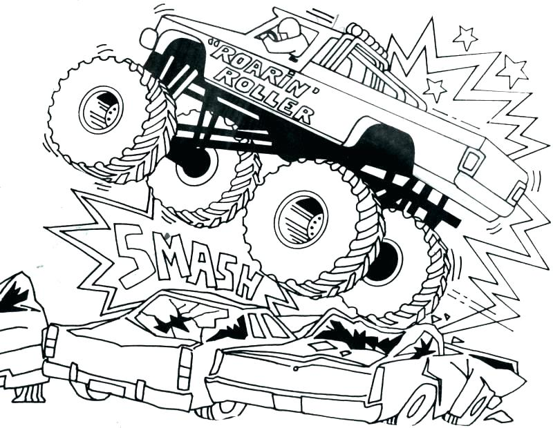 800x620 Monster Truck To Color
